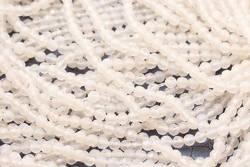 Agat biały 7441kp 4mm 1sznur