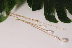 Długi Naszyjnik Barokowa perła