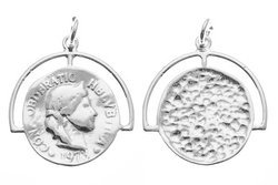 Srebro 925 Zawieszka moneta 841e 16mm 5szt.