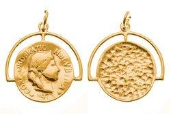Srebro 925 Zawieszka moneta 841ez 16mm 5szt.