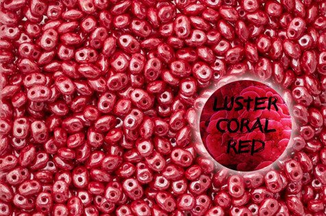 SuperDuo L93200 Luster Coral Red 5g