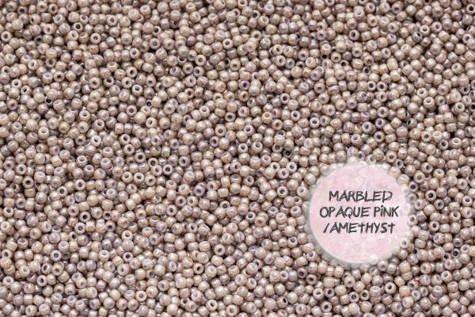TOHO TR-11-1203 Marbled Opq Pink/Amethyst 50g