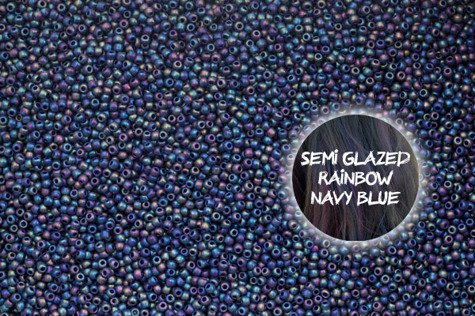 TOHO TR-11-2637F Semi Glazed Rain. Navy Blue 10g